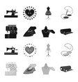 electric sewing machine iron for ironing marking vector image vector image