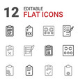 exam icons vector image vector image