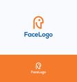 Face logo vector image vector image