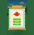 farm fruits level lost screen - mobile game assets vector image vector image