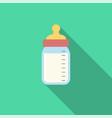 feeding bottle icon milk bottle icon vector image vector image