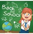 Girl kid of back to school design vector image vector image