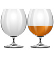 Glasses empty and with drink vector image