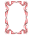Gothic vertical frame on a white background Tribal vector image vector image