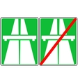 green freeway signs on vector image