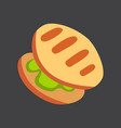 grill food icon cartoon vector image vector image