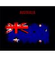 Grunge australian flag vector image vector image