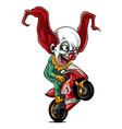 joker biker motorcycle rider vector image