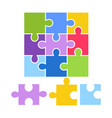 kid toy puzzle picture game children constructor vector image vector image