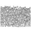 large group people crowded on stadium vector image vector image