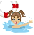 little girl screaming in water vector image