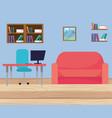modern furniture cartoon vector image vector image