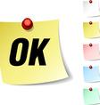 Ok icon vector image vector image