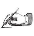 penmanship correct position vintage vector image vector image