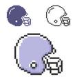 pixel icon american football player helmet vector image vector image