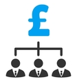 Pound Banker Links Flat Icon Symbol vector image vector image