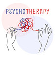 psychology psychoanalysis and psychotherapy vector image
