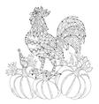 roosterhand drawn doodle zen art vector image