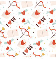 seamless pattern with cute element on white vector image vector image