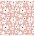 Seamless pattern with flowers on a pink background vector image vector image