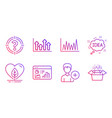 seo statistics headhunter and upper arrows icons vector image vector image
