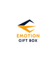 sign emotion gift box vector image vector image