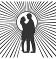 silhouette couple in love sketch vector image vector image