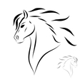 stylized head horse vector image vector image
