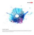 sun icon - watercolor background vector image vector image
