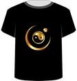 T Shirt Template- yin yang symbol vector image vector image