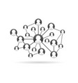 team in social network working concept vector image vector image