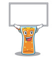 up board cocktail character cartoon style vector image vector image