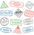 visa travel cachet passport signs or airport vector image