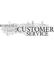 what s the customer service buzz about your vector image vector image