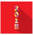 Creative happy new year 2015 text Design vector image