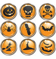 Halloween icon buttons vector image