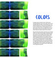 abstract watercolor background colorful bricks vector image