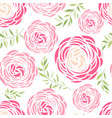 seamless pattern with pink flowers vector image