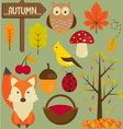 0019 set autumn vector image