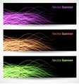 Abstract wave banners vector image vector image