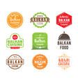 balkan cuisine label