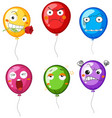 balloons with different facial expressions