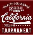 basketball california vector image vector image