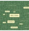 BIG IDEA vector image vector image