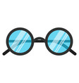 black nerd eye glasses flat design concept vector image vector image