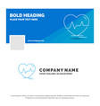 blue business logo template for ecg heart vector image