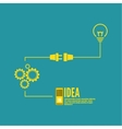 Bulb light idea with switch and gears vector image