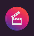 clapperboard cinema movie icon vector image