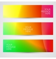 Colorful abstract banners vector image