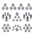 connected people and social network icons vector image